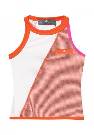 Майка спортивная adidas Performance. Цвет: оранжевый