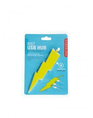 USB-концентратор Bolt Подарки. Цвет: желтый