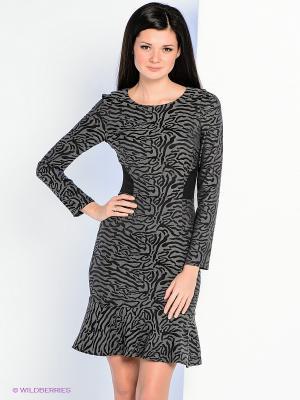 Платье Personage. Цвет: серый, черный