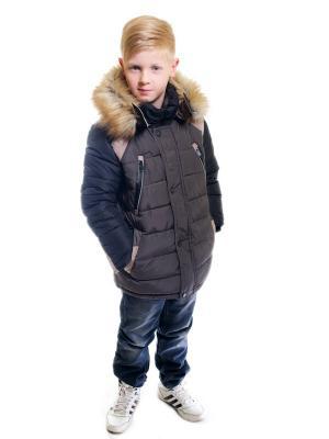 Куртка для мальчика Авиатор Пралеска. Цвет: хаки