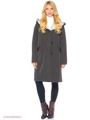 Пальто женское DIXI CoAT. Цвет: темно-коричневый