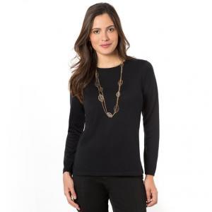 Пуловер, 50% шерсти ANNE WEYBURN. Цвет: индиго,малиновый,серый,черный,экрю