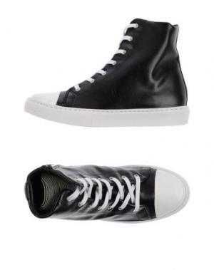 Высокие кеды и кроссовки JIJIL. Цвет: черный