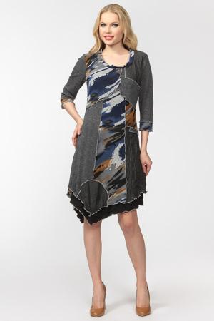 Платье Frank Lyman Design. Цвет: серый, цветные вставки
