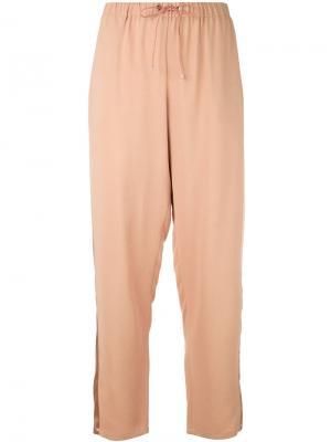 Классические брюки Les Copains. Цвет: розовый и фиолетовый