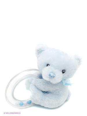 Игрушка мягкая (My First Teddy Rattle Blue, 10 см). Gund. Цвет: светло-голубой
