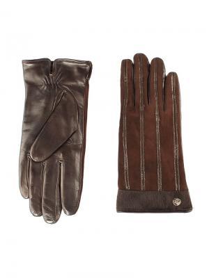 Перчатки женские Piero. Цвет: темно-коричневый