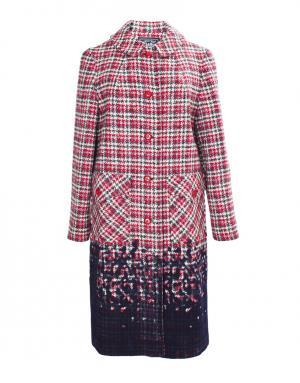 Пальто из шерсти в клетку Libertine. Цвет: красный