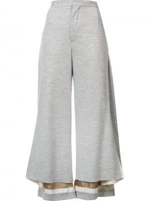 Укороченные широкие брюки Undercover. Цвет: серый