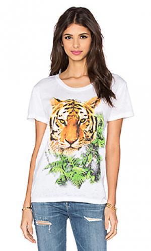 Футболка с рисунком jungle tiger Chaser. Цвет: белый