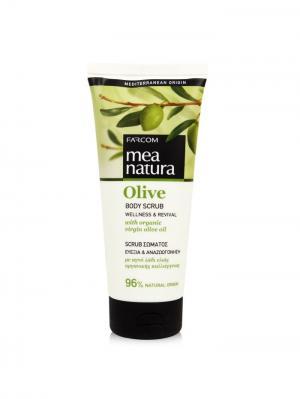 Оливковый скраб для тела Wellness & Revival Farcom Mea Natura. Цвет: бежевый