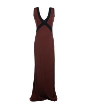 Длинное платье FISICO-CRISTINA FERRARI. Цвет: какао