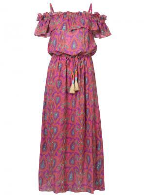 Платье Maya Figue. Цвет: розовый и фиолетовый