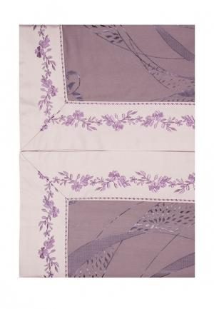 Комплект постельного белья Евро Asabella. Цвет: фиолетовый