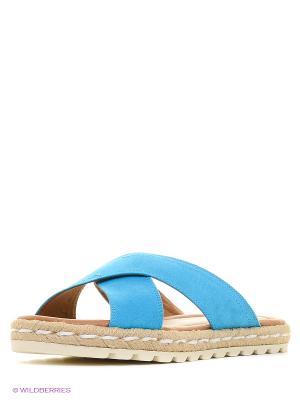 Пантолеты Marco Tozzi. Цвет: голубой