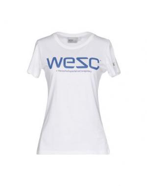 Футболка WESC. Цвет: белый
