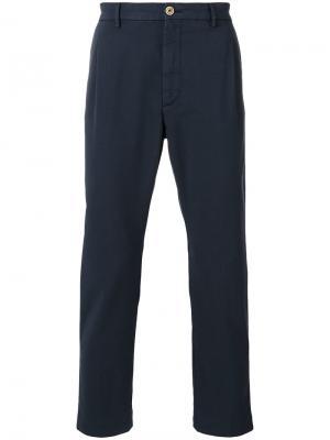 Классические брюки чинос Pence. Цвет: синий