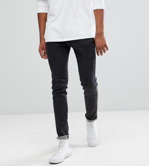 Bellfield Выбеленные черные джинсы скинни TALL. Цвет: черный