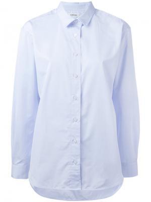 Рубашка свободного кроя Toteme. Цвет: синий