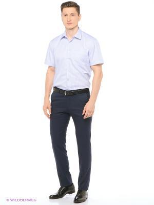 Рубашка мужская с коротким рукавом в полоску Mr. Marten. Цвет: голубой
