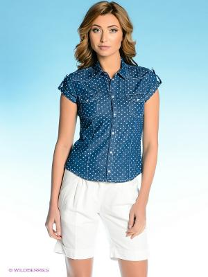 Рубашка Vilatte. Цвет: темно-синий