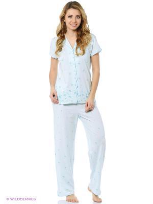 Пижама Aria. Цвет: голубой