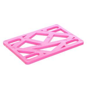 Подкладки для скейтборда  Riser Hot 1/8 Pink Krooked. Цвет: розовый