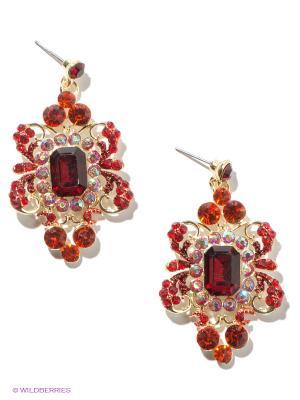 Серьги Royal Diamond. Цвет: золотистый, бордовый