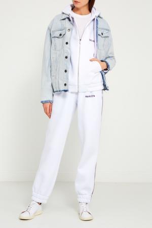 Белые трикотажные брюки Sorry, i'm Not. Цвет: белый
