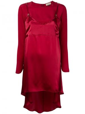 Блузка Slip Murmur. Цвет: красный