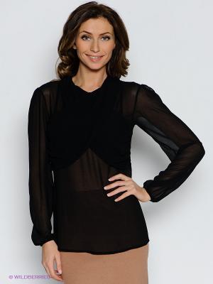 Блузка MIMI LA RUE. Цвет: черный