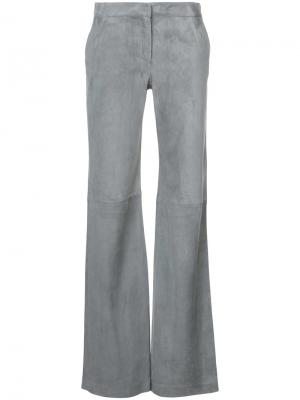 Классические расклешенные брюки Fabiana Filippi. Цвет: серый