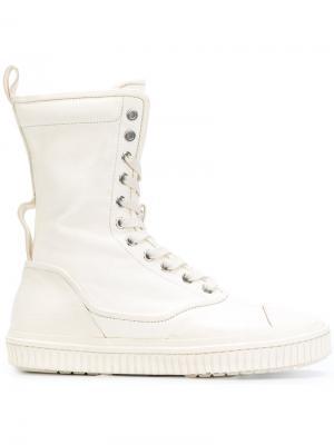 Сапоги со шнуровкой Both. Цвет: белый