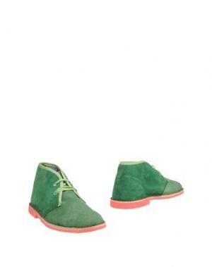 Полусапоги и высокие ботинки DIMATTIA. Цвет: зеленый