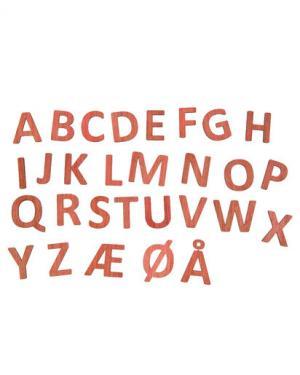 Деревянные буквы Sebra. Цвет: натуральный