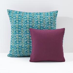 Чехол для подушки или наволочка Jaïpur La Redoute Interieurs. Цвет: рисунок изумрудный/красно-фиолетовый