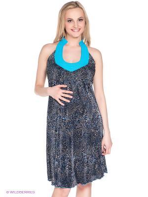 Платье для беременных 40 недель 30348/1/голубой