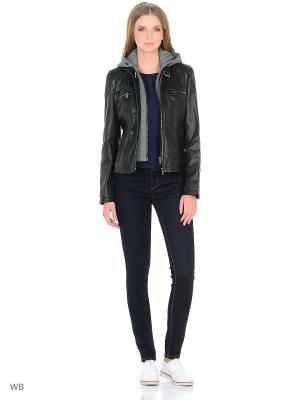 Кожаная куртка MONDIAL. Цвет: черный