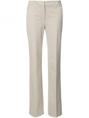 Прямые брюки Elie Tahari. Цвет: серый