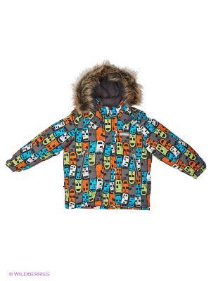 Куртка Kerry. Цвет: серый, оранжевый