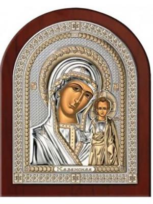 Икона Казанская Божья Матерь (14.5*18.5) NAVELL. Цвет: серебристый