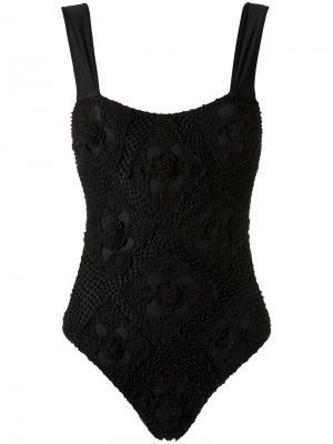 Crochet swimsuit Amir Slama. Цвет: чёрный