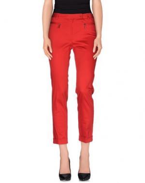 Повседневные брюки EMISPHERE. Цвет: красный