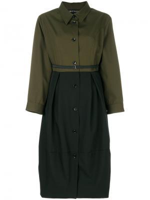 Платье-рубашка с поясом Ter Et Bantine. Цвет: зелёный