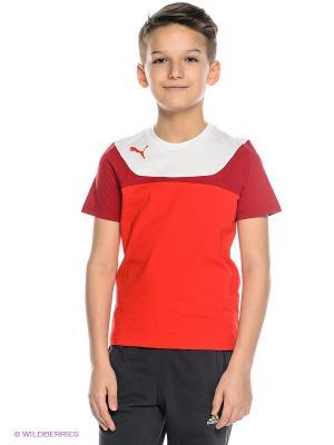Футболка Esito 3 Leisure Tee Puma. Цвет: красный, белый, бордовый