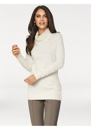 Пуловер ASHLEY BROOKE by Heine. Цвет: молочно-белый, серо-коричневый, ягодный