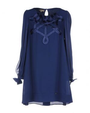 Короткое платье EUREKA. Цвет: темно-синий