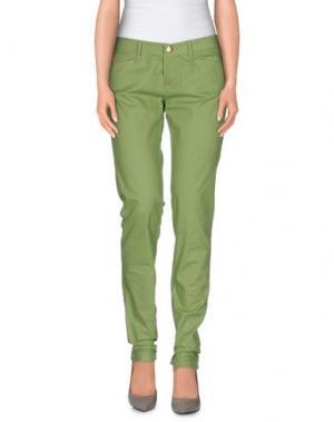Повседневные брюки D-21. Цвет: светло-зеленый