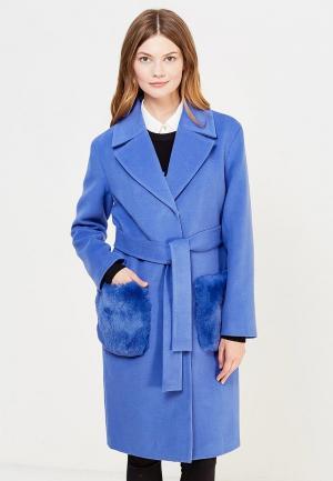 Пальто Grand Style. Цвет: голубой