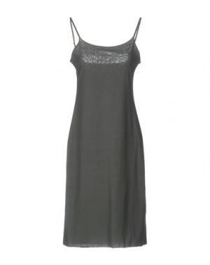 Короткое платье ALMERIA. Цвет: свинцово-серый